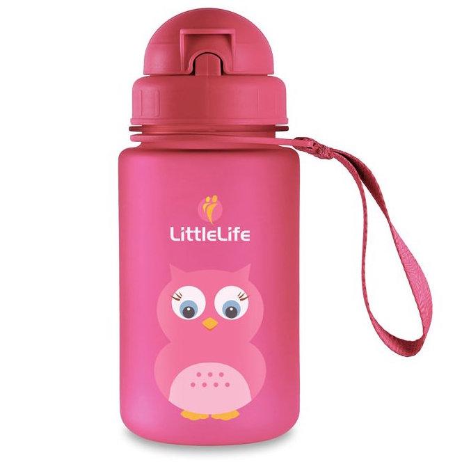 LittleLife Animal Bottle láhev na vodu pro děti 400ml sova