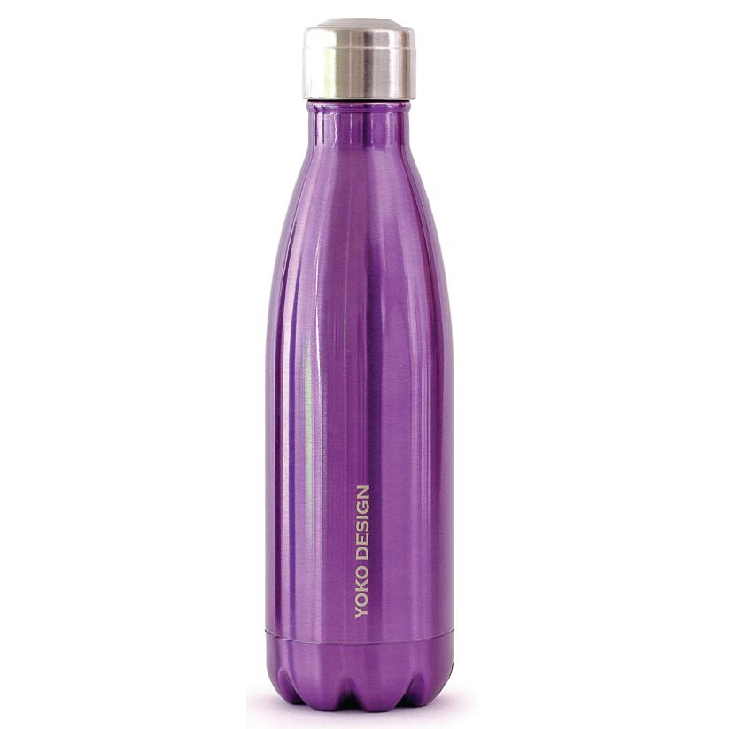 Yoko Design Isothermal Bottle termolahev 500ml fialová lesklá