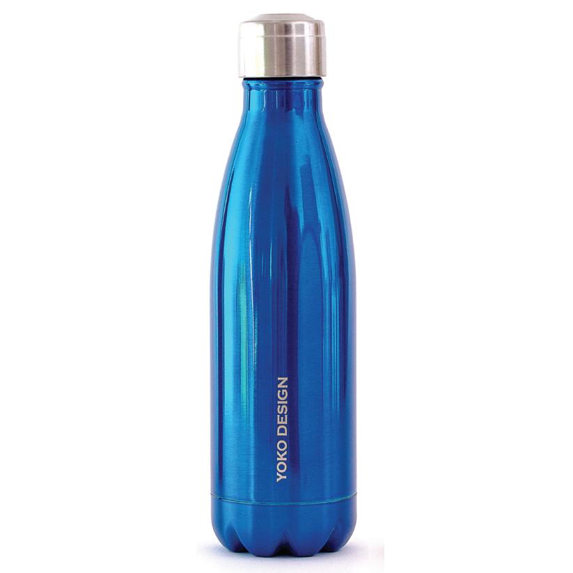 Yoko Design Isothermal Bottle termolahev 500ml modrá lesklá