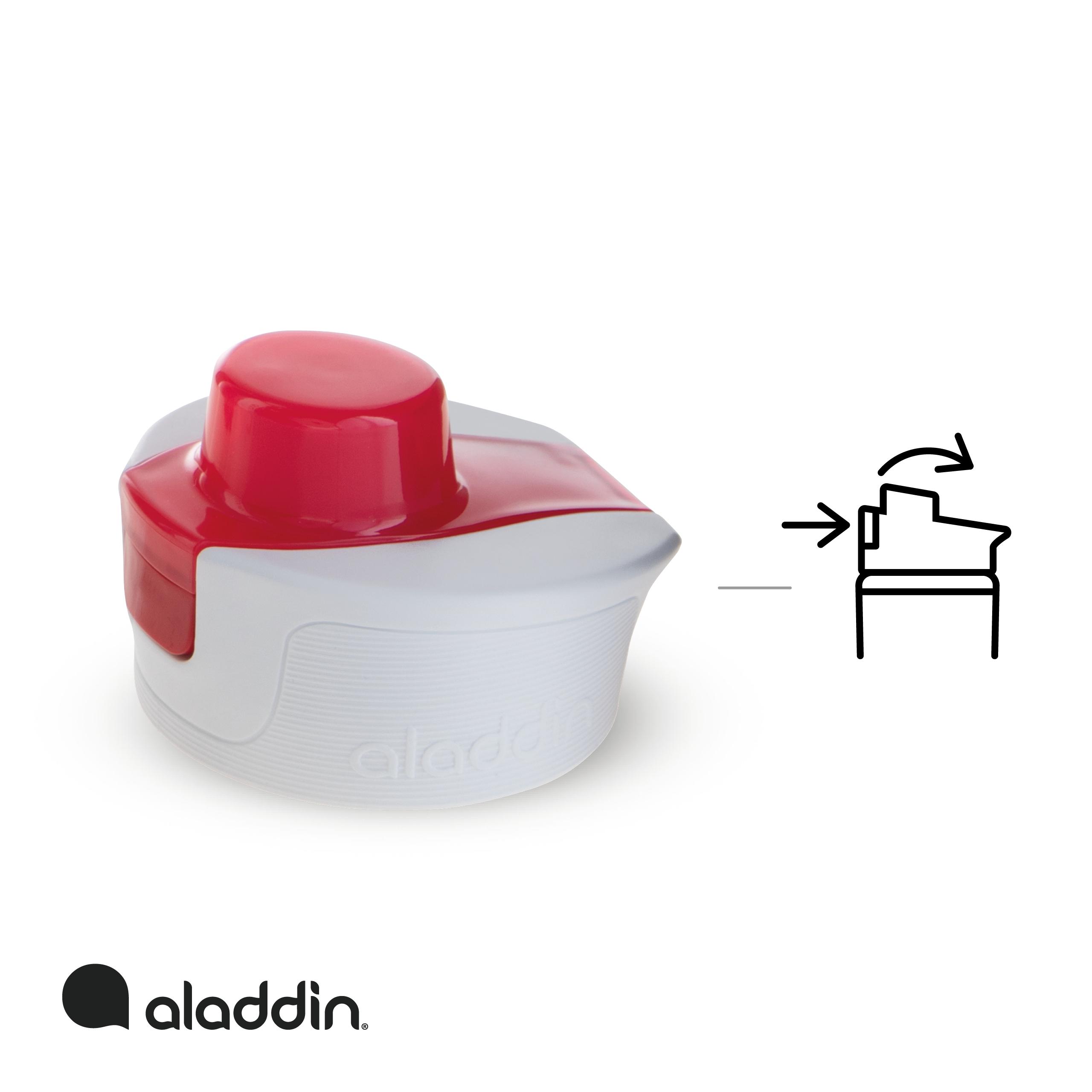 ALADDIN Sportovní láhev na vodu s počítadlem 800ml červená
