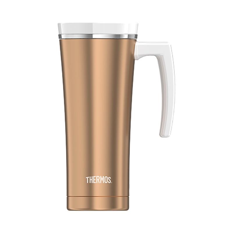 Thermos Vodotěsný termohrnek s madlem - růžovozlatá 470 ml