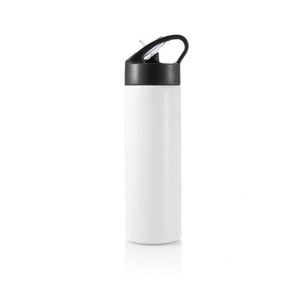 XD DESIGN Sport, lahev s brčkem, 500ml, bílá