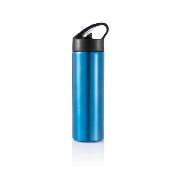 XD DESIGN Sport, lahev s brčkem, 500ml, modrá