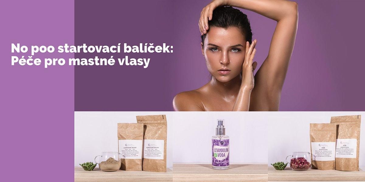 Startovací balíček, no poo mytí vlasů, zdravé vlasy, bez šamponu, přírodní produkty na vlasy