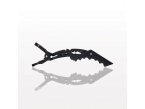0004711 hair sectioning clip matte black