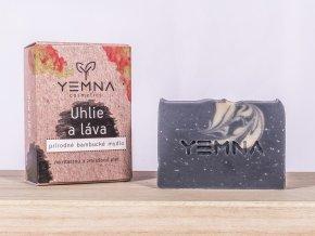 Uhlí a marocký jíl - přírodní mýdlo 100 g