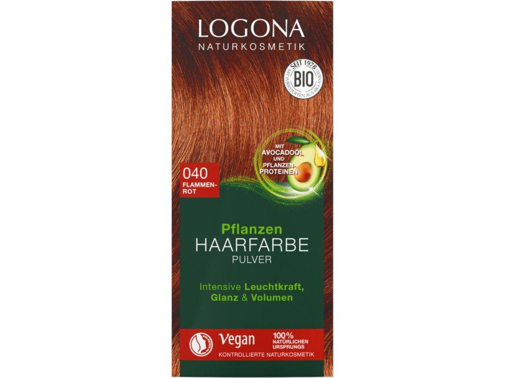 logona barva na vlasy ohniva cervena