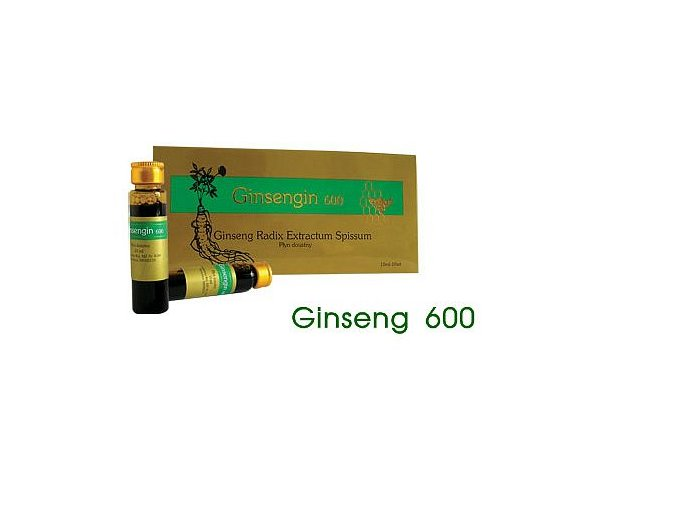 Ženšen 600 Ginseng 600 ampule 10 x 10 ml