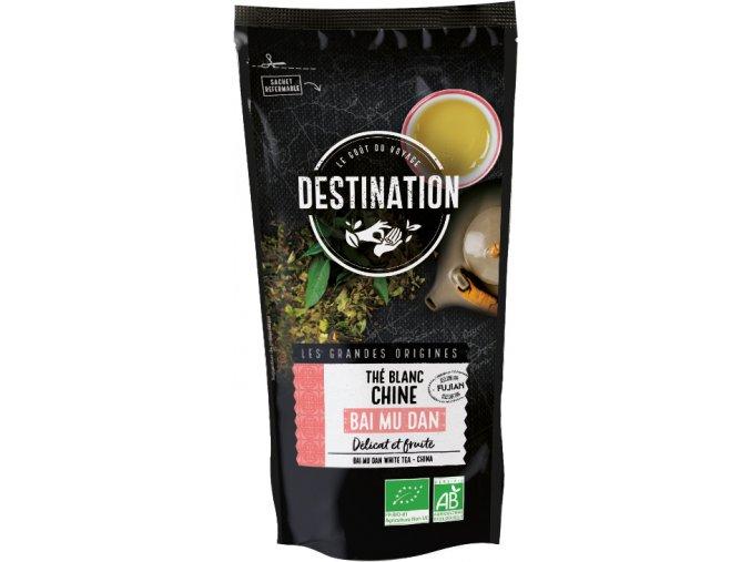 Destination Premium Bio bílý čaj Bai Mu Dan 30 g