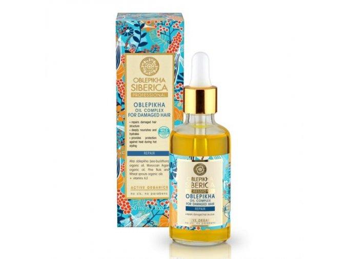 Rakytníkový olej pro péči o poškozené vlasy