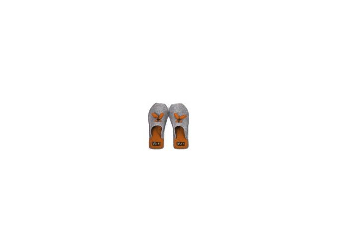 175 1 pantofle croissant oranzove