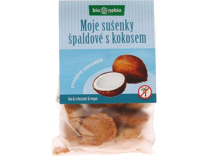 Bio Nebio Bio MOJE SUŠENKY špaldové s kokosem 130 g
