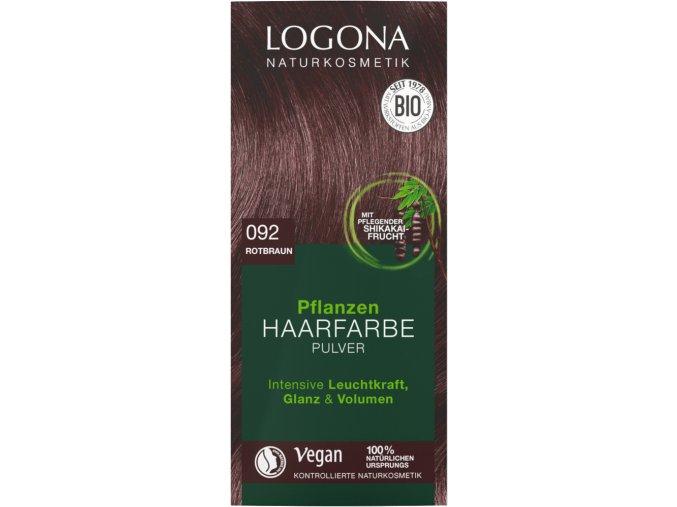 Logona Barva na vlasy 092 Červenohnědá BIO 100 g