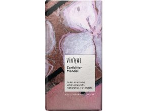 Vivani Bio hořká čokoláda s mandlemi 100g