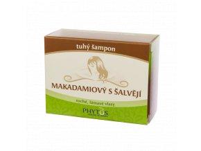 Tuhý makadamiový šampon s šalvějí