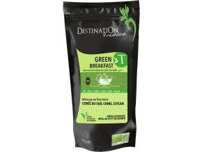 Destination Premium Bio zelený čaj Green Breakfast sypaný 100 g