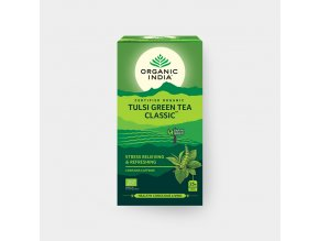 Tulsi se zeleným čajem BIO, 25 sáčky Bio