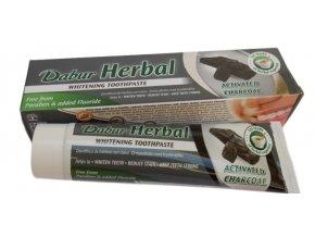 Dabur Herbal zubní pasta 131g, s obsahem dřevěného uhlí BÉLÍCÍ
