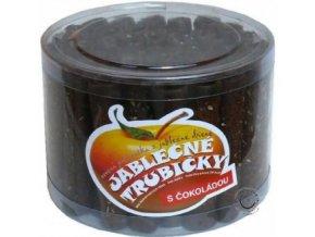 Jablčné trubičky s čokoládovou polevou