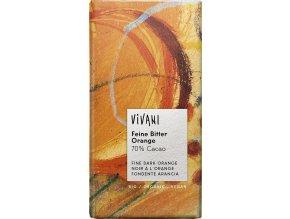 Vivani Bio hořká čokoláda pomerančová 100g