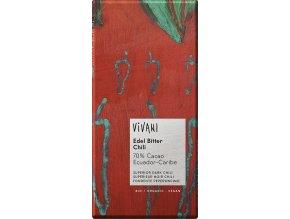 Vivani Bio hořká čokoláda 70% s chilli 100g