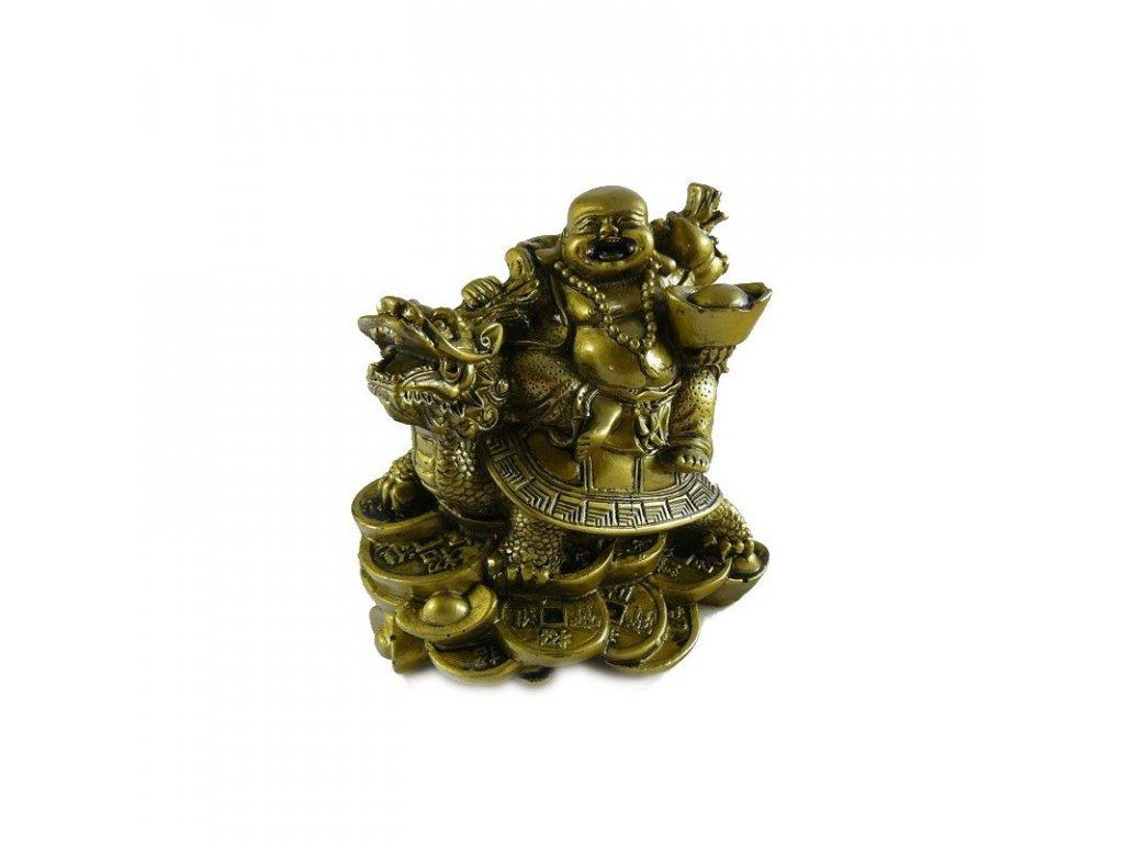 buddha na zelve s draci hlavou velky