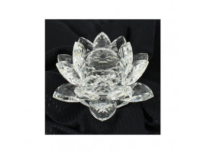kristalovy kvet lotos 16cm cira