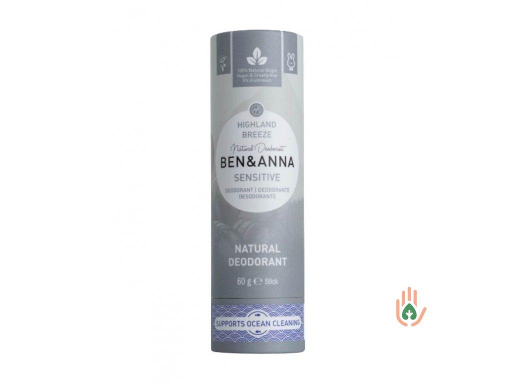 Tuhý deodorant Ben & Anna Sensitive - Horský vánek
