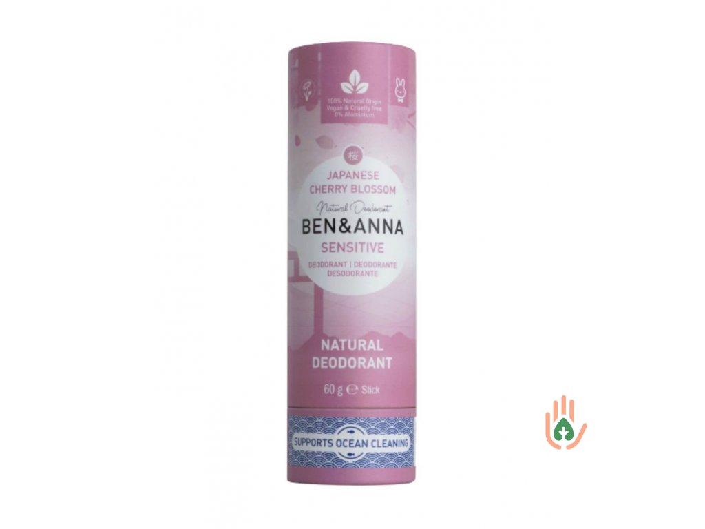Tuhý deodorant Ben & Anna Sensitiv Třešnový květ