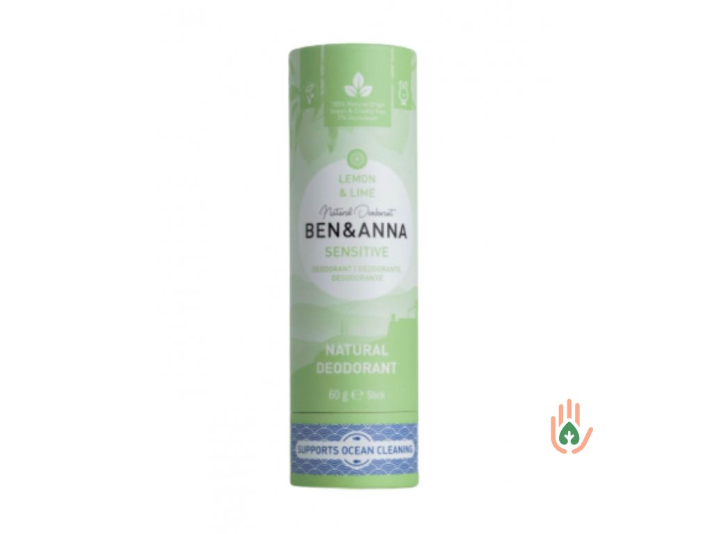 Tuhý deodorant Ben & Anna Sensitiv - Citrón a limetka
