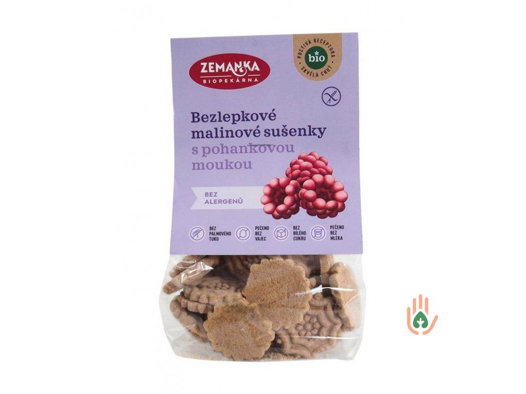 Biopekárna Zemanka Pohankovo-malinové sušenky bez lepku BIO 100g