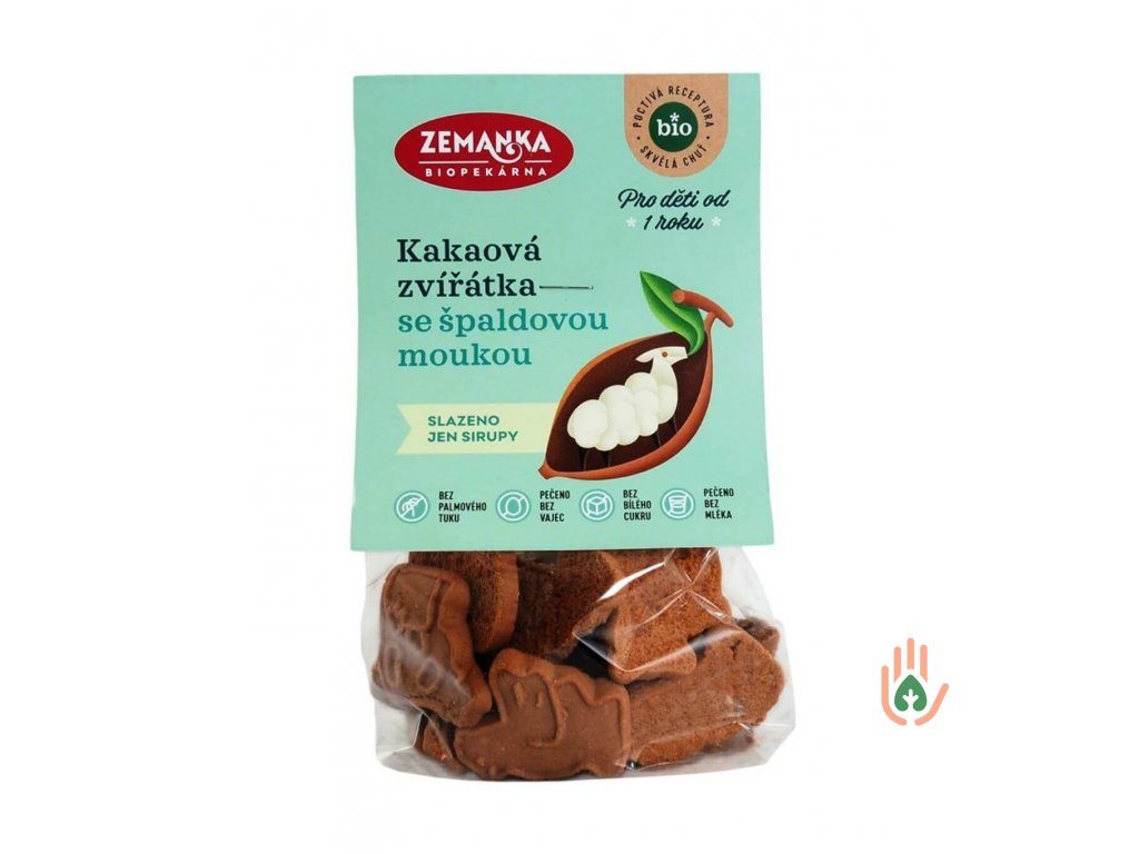 Biopekárna Zemanka Špaldová zvířátka kakaová BIO 100g