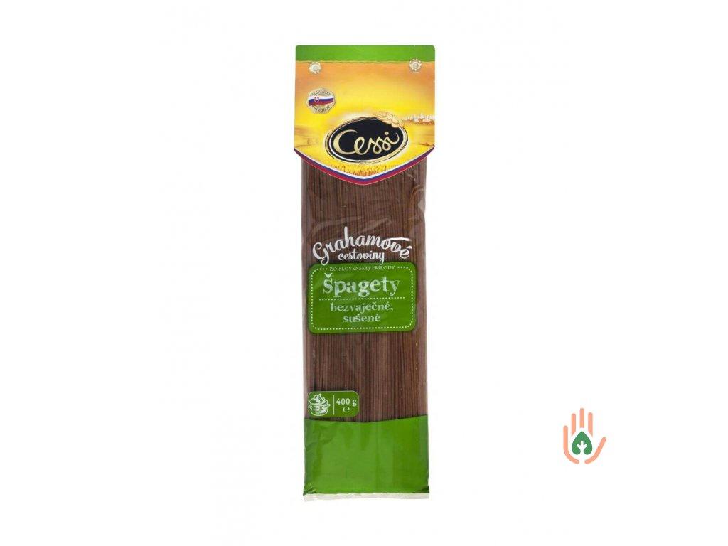 CESSI grahamové těstoviny špagety 400g