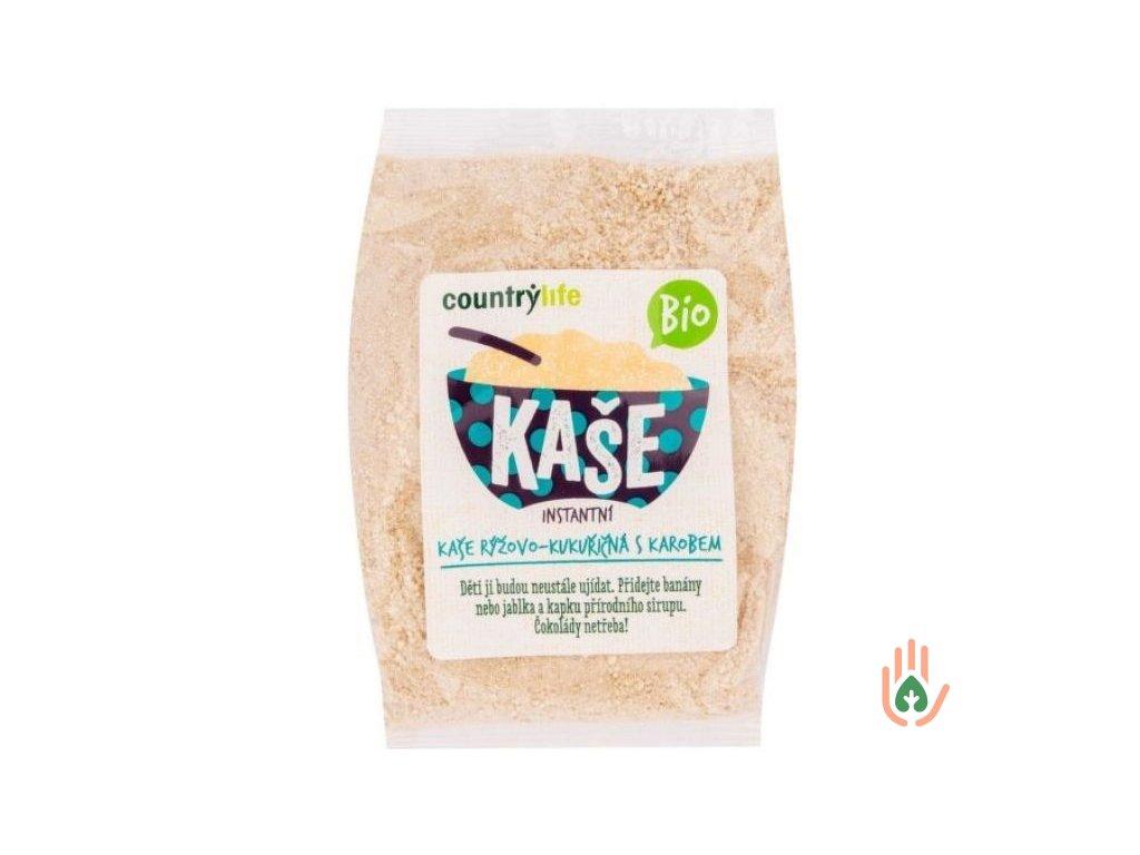 Kaše instantní rýžovo-kukuřičná s karobem BIO