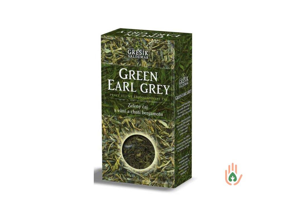 Grešík Pravý zelený čaj Green Earl Grey 70g