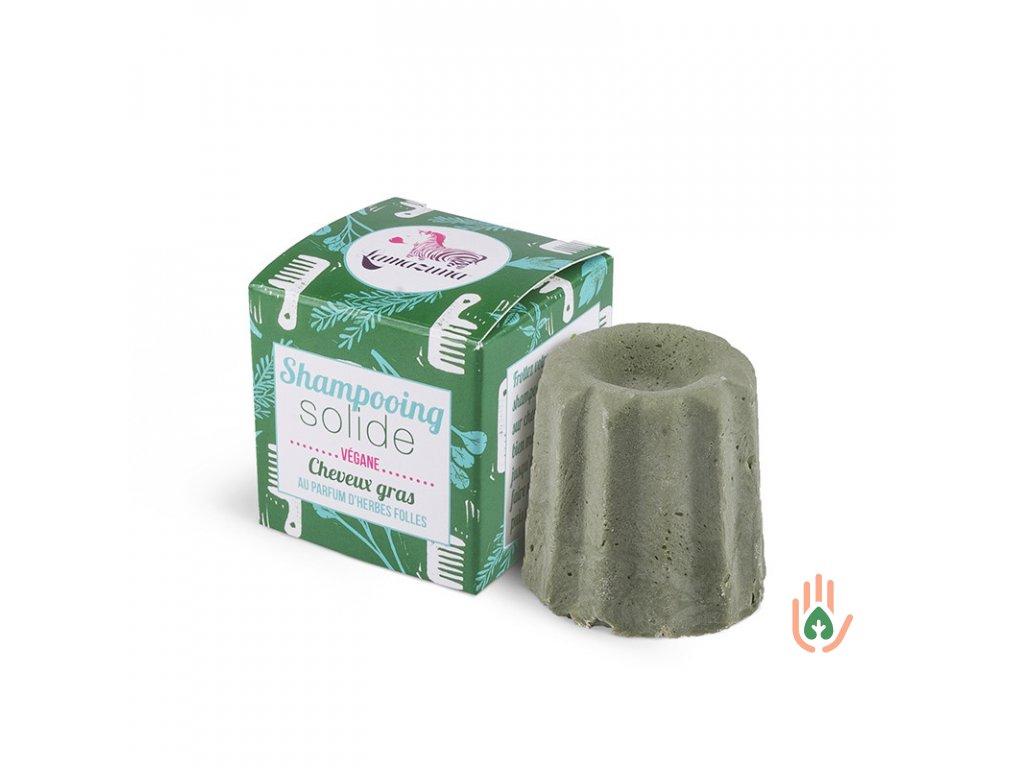Lamazuna Tuhý šampón pro mastné vlasy - divoká tráva  55g