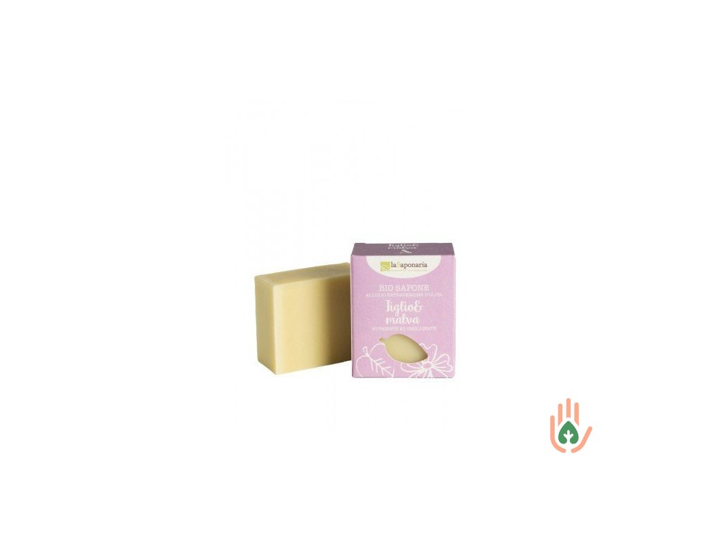 Tuhé olivové mýdlo BIO - Lípa a sléz 100g