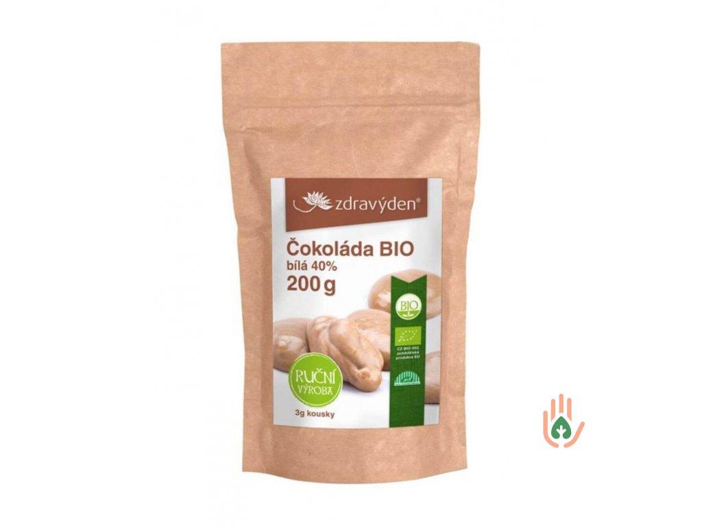 Zdravý den Čokoláda bílá 40% BIO 200g