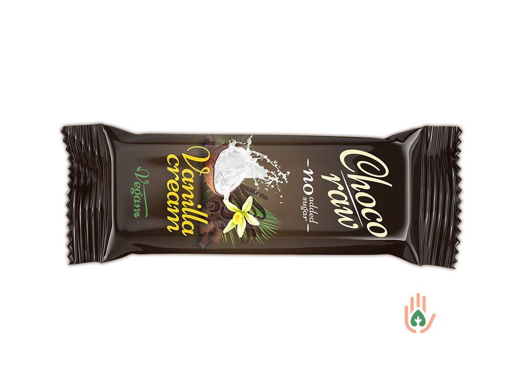 ŽIVAN tyčinka vanilla cream CHOCO RAW 55g