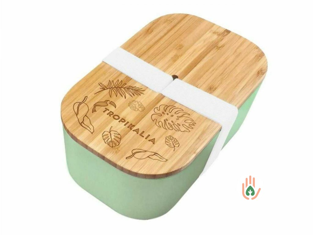 TROPIKALIA Lunch box ECO mint velký