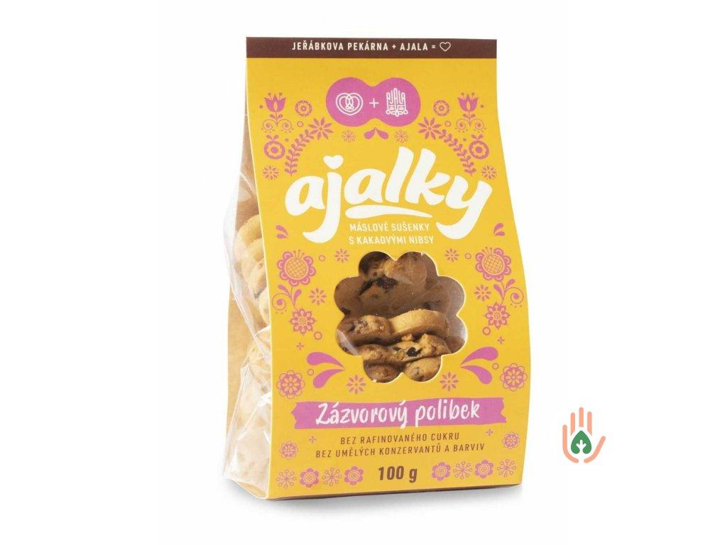 AJALKY máslové sušenky - Zázvorový polibek  100g