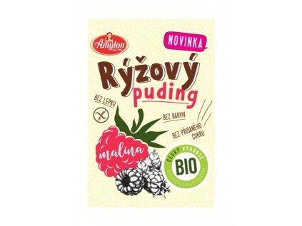 Rýžový puding malinový