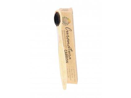 Bambusový zubní kartáček karbon