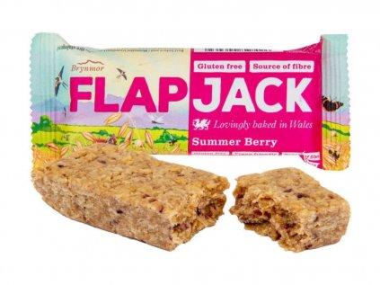 WHOLEBAKE Flapjack ovesný malina-jahoda 80g