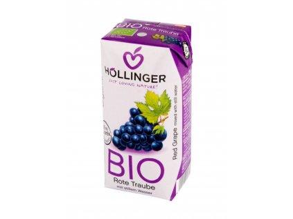 HOLLINGER Šťáva ovocná červený hrozen BIO 200ml