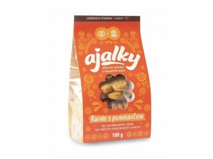 AJALKY máslové sušenky - Rande s pomerančem  100g