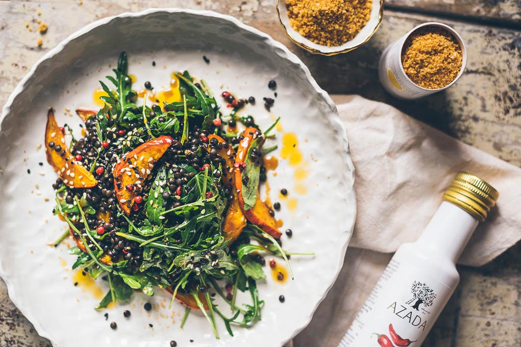 Čočkový salát s dýní po asijsku