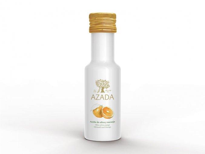 azada lahvicka oliva naranja
