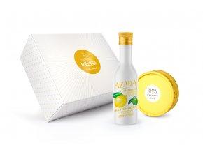 Dárková sada-Panenský olivový olej se svěží citronovou chutí 225ml a Limitovaná edice Solného květu s příchutí citronu a levandule 60g