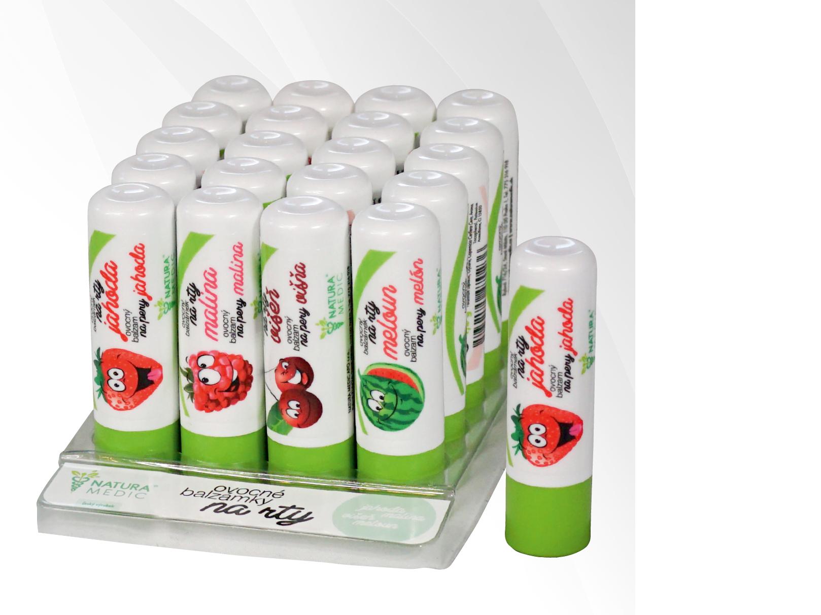 NATURA MEDIC Ovocný balzámek na rty - Jahoda